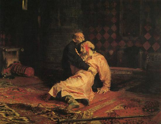 И. Е. Репин Иван Грозный убивает своего сына