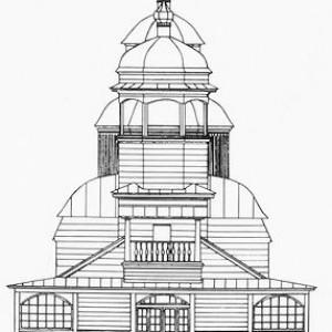 чертеж Ильинки (Западный фасад) 1793 г.