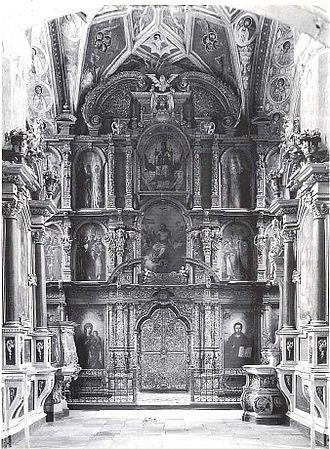 Уникальный иконостас Благовещенского собора (1-я половина XVII века), уничтоженный солдатами РККА