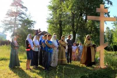 Молебен на месте бывшего старообрядческого храма