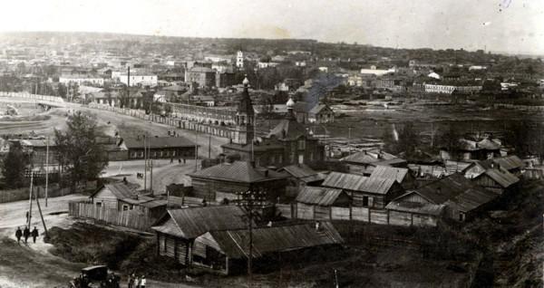 Храм во имя Честнаго и Животворящаго Креста Господня. Барнаул,фото 20-х годов