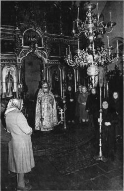 Отец Иоанн Золотухин. Выход на Литию. 1983 год
