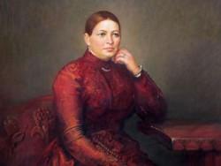 Репродукция портрета А.В. Мараевой, выполненная М.Ю. Шаньковым