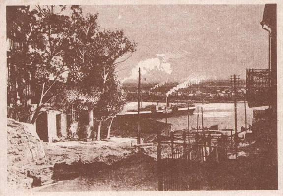 Угол Николаевского переулка и ул. Донской. С фото  нач. XX в.